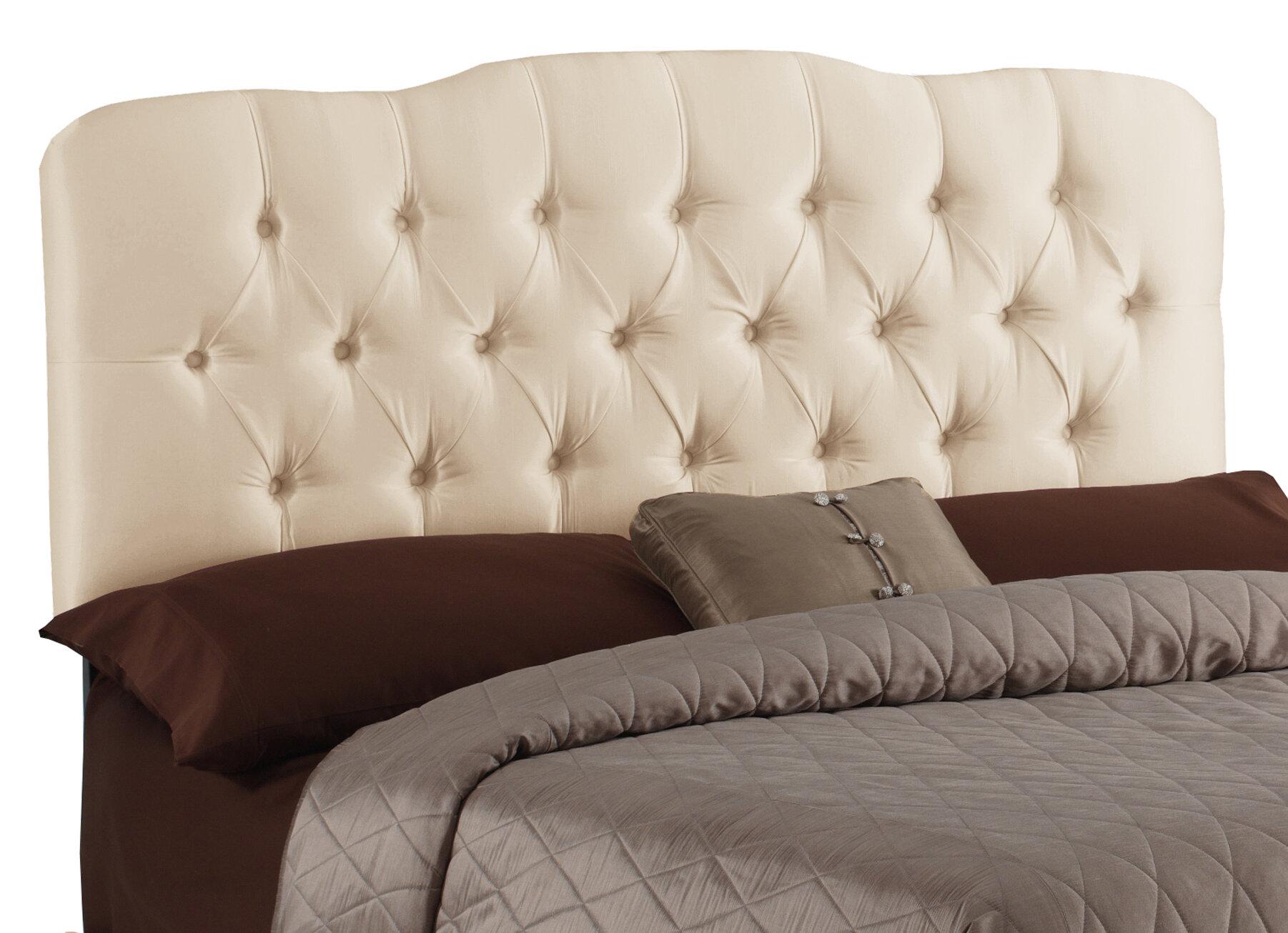 Wayfair Tufted Headboard Find Headboards Wayfair: Skyline Furniture Carnaby Tufted Shantung Parchment