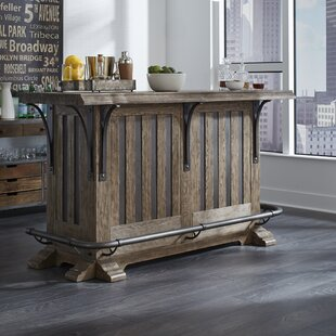 Keyon Wooden Bar with Wine Storage