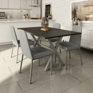 Muhammed 5 Piece Dining Set by Wade Logan