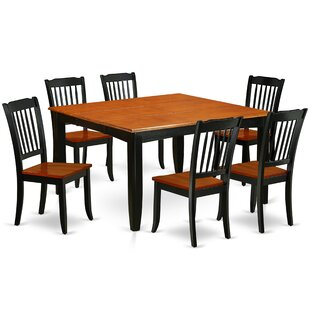 Krumm 7 Piece Extendable Solid Wood Dining Set