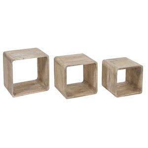 3-tlg. Satztisch-Set Cube von Castleton Home
