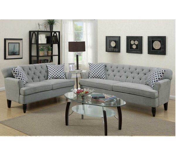 Living & Dining Room Ideas Part - 30: Au0026J Homes Studio Angel 2 Piece Living Room Set U0026 Reviews | Wayfair