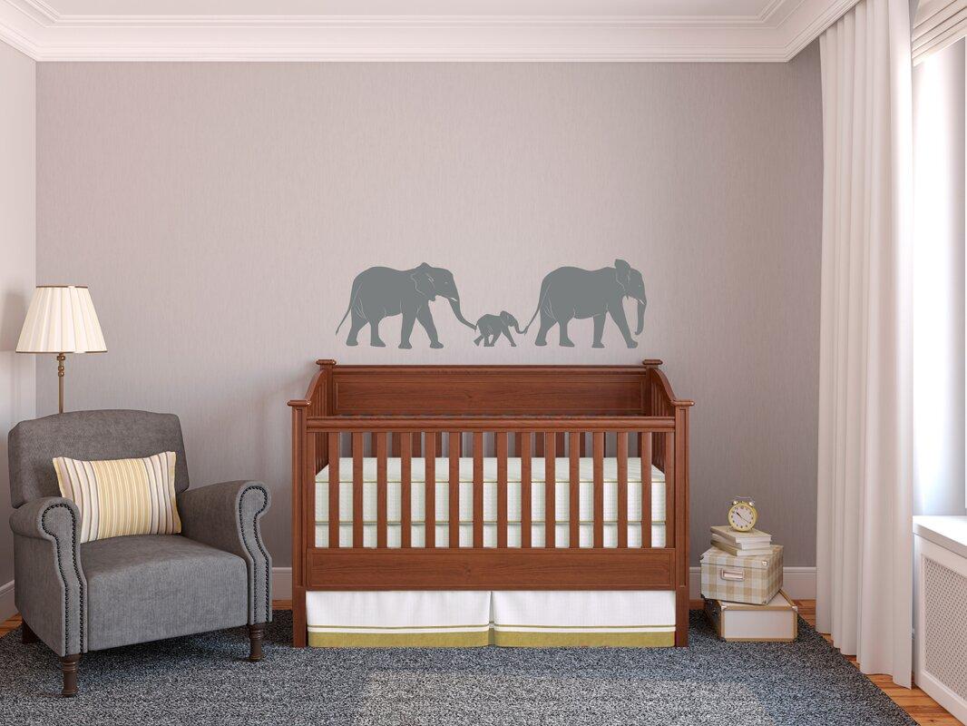 Elephant Train Family Wall Decal