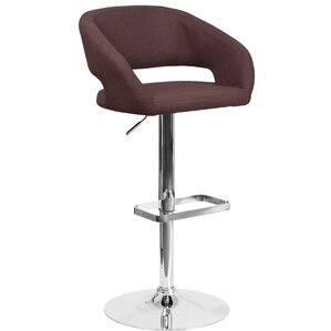 Noonkester Adjustable Height Swivel Bar Stool by Orren Ellis