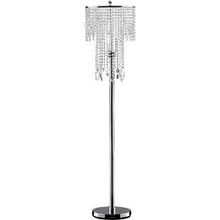 Glam floor lamps youll love wayfair amethyst 63 floor lamp aloadofball Choice Image