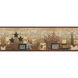 The Cottage Caring Candles 15 X 6 Wallpaper Border