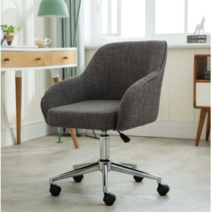 upholstered swivel desk chair wayfair rh wayfair com bond upholstered swivel office chair Upholstered Desk Chairs All