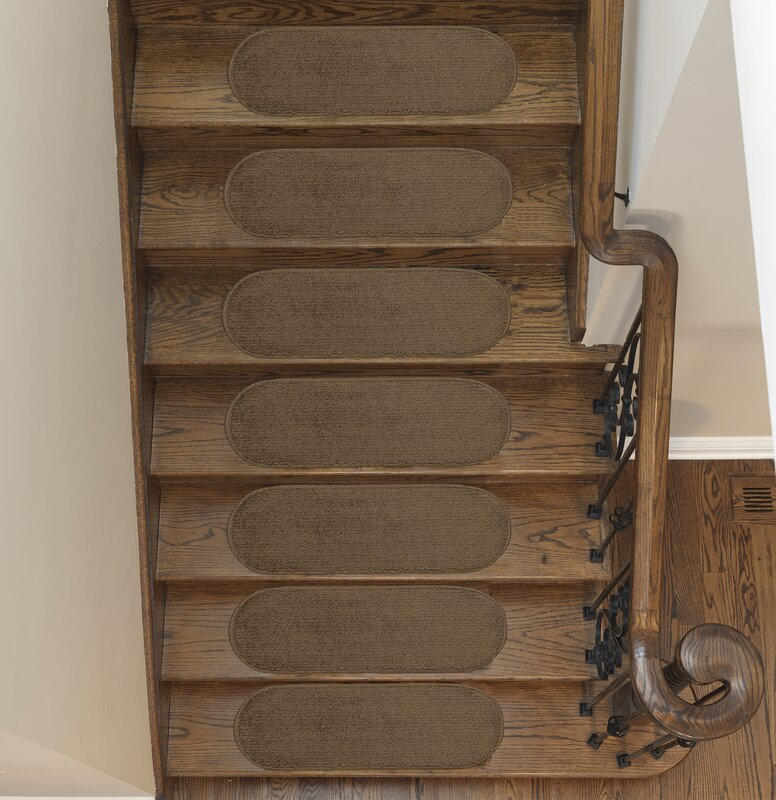 Tharp Oval Brown Stair Tread Set