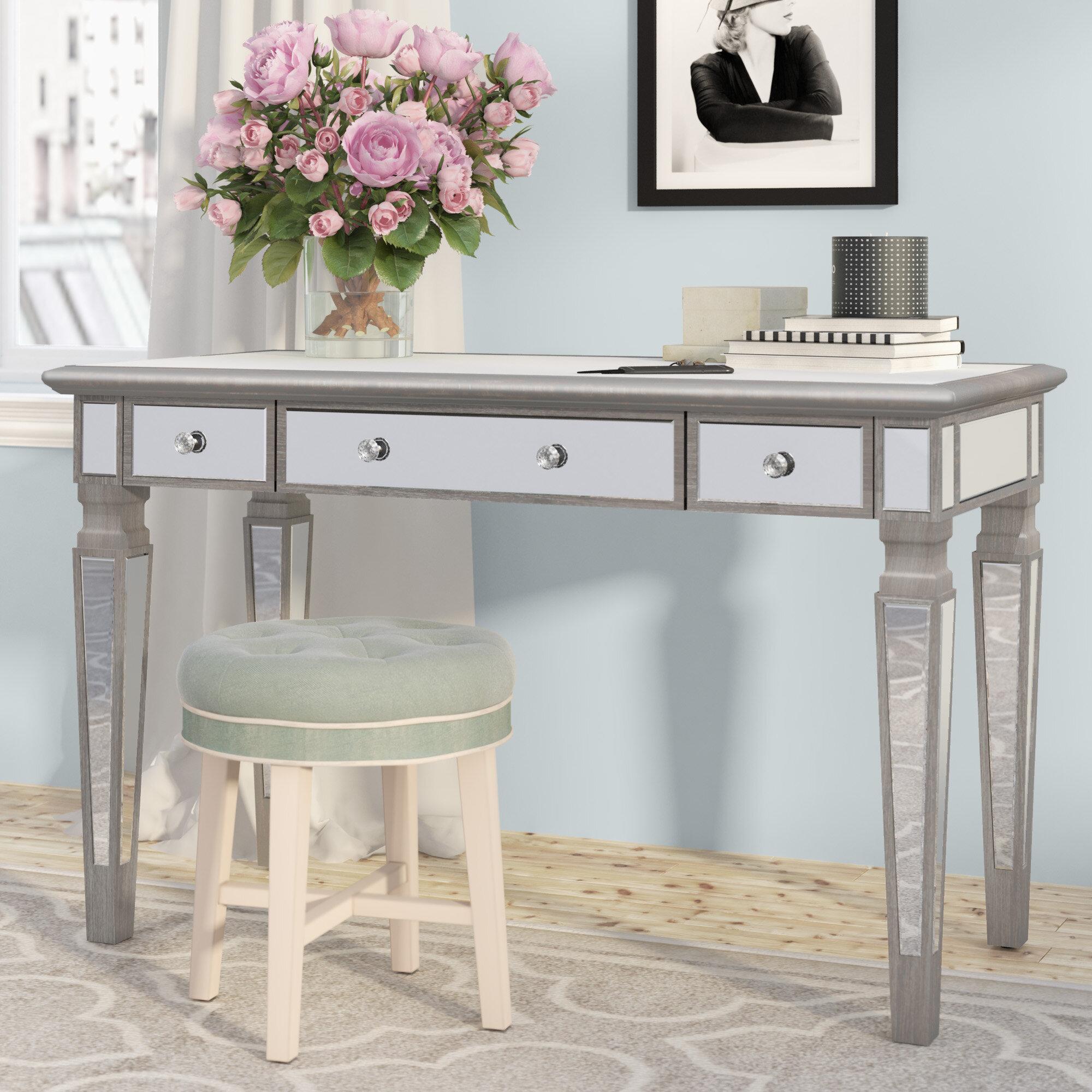 willa arlo interiors angelette glass writing desk reviews wayfair rh wayfair com glass and chrome writing desk glass writing desk ikea