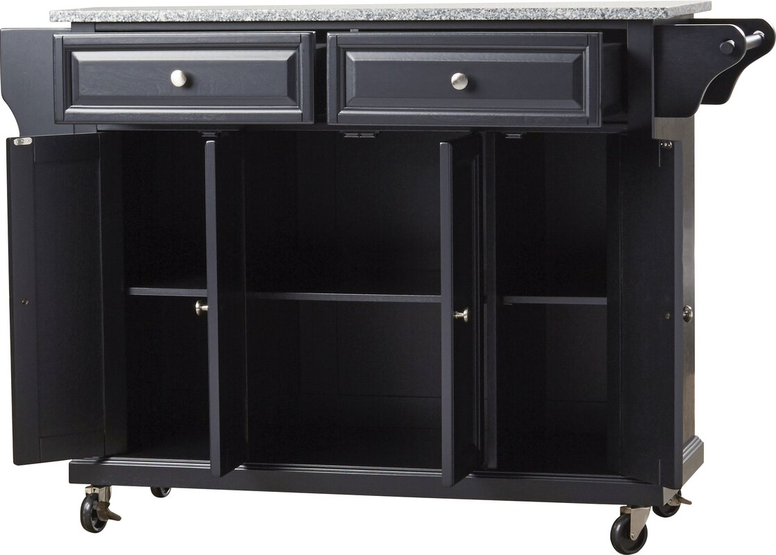 darby home co pottstown kitchen cart island with granite top