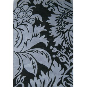 Barh Hand-Tufted Black Area Rug