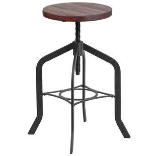 Kluge Adjustable Height Swivel Bar Stool