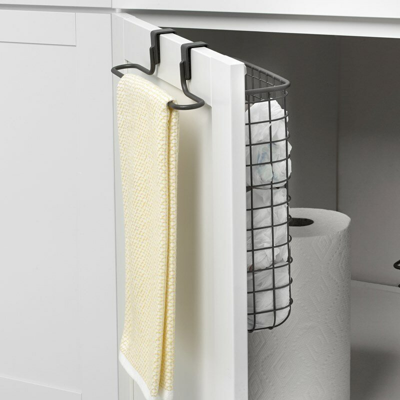 Rebrilliant Ebersole Towel Bar And Recycling Bag Storage Cabinet