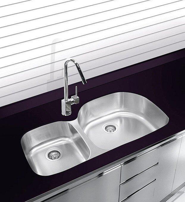 38   x 17 75   undermount double bowl stainless steel kitchen sink ukinox 38   x 17 75   undermount double bowl stainless steel kitchen      rh   wayfair com