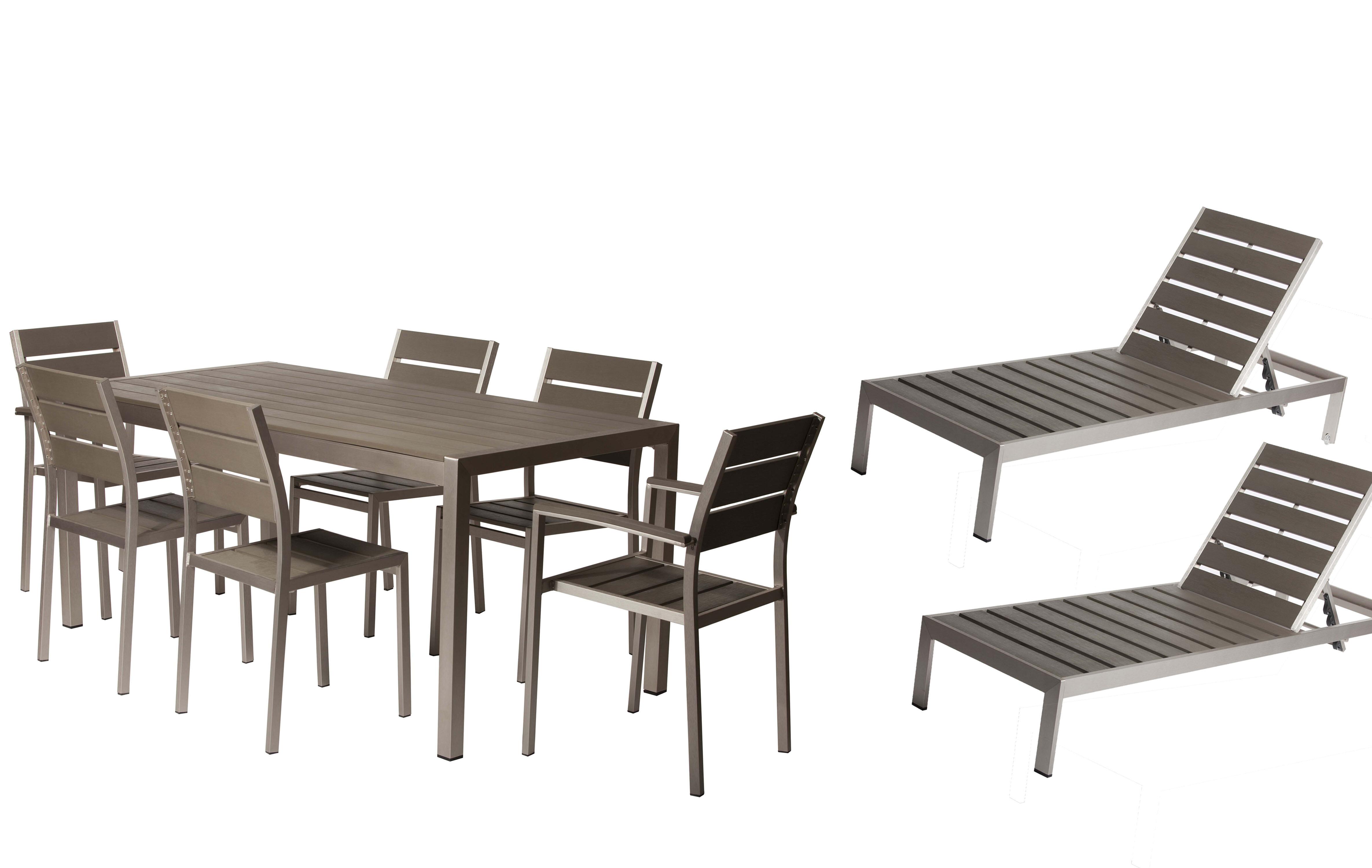 Orren ellis carrell 9 piece patio set wayfair