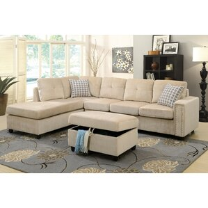 sc 1 st  Wayfair : beige microfiber sectional - Sectionals, Sofas & Couches
