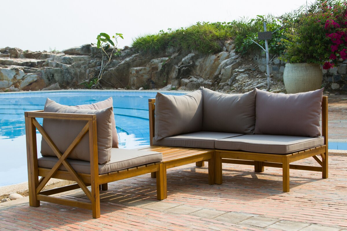 Sanibel 4 Piece Sectional Set With Cushions Amp Reviews