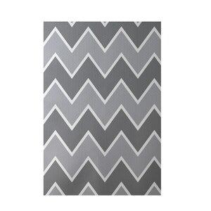 Chevron Gray Indoor/Outdoor Area Rug