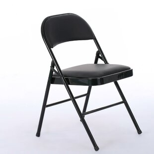 Zeringue Elegant Foldable Iron 4 Piece Dining Chair Set