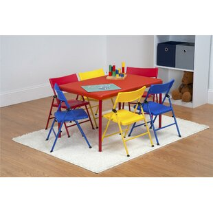 Adrian Kids 7 Piece Arts And Crafts Table Chair Set
