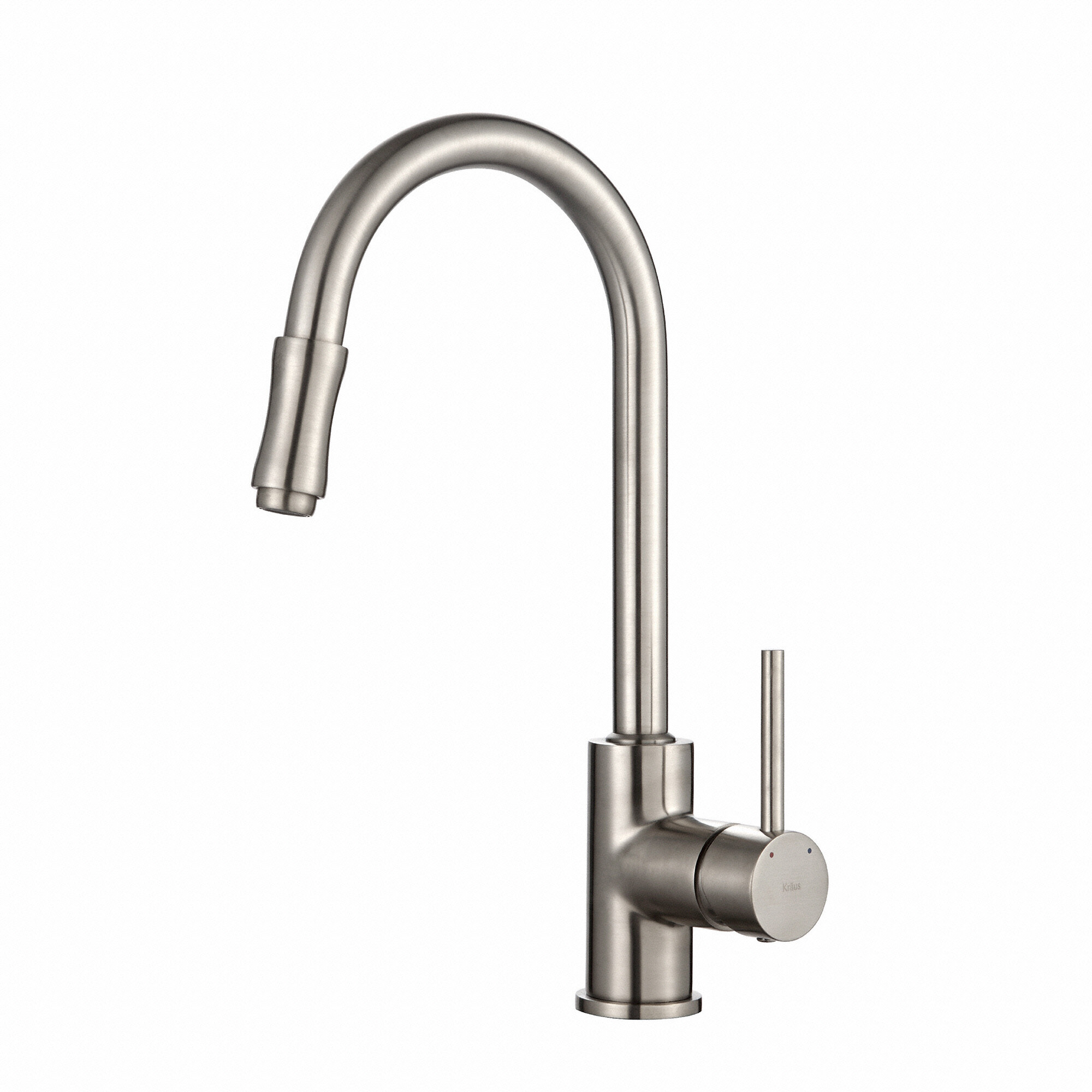 kraus premium faucets pull down single handle kitchen faucet rh wayfair ca