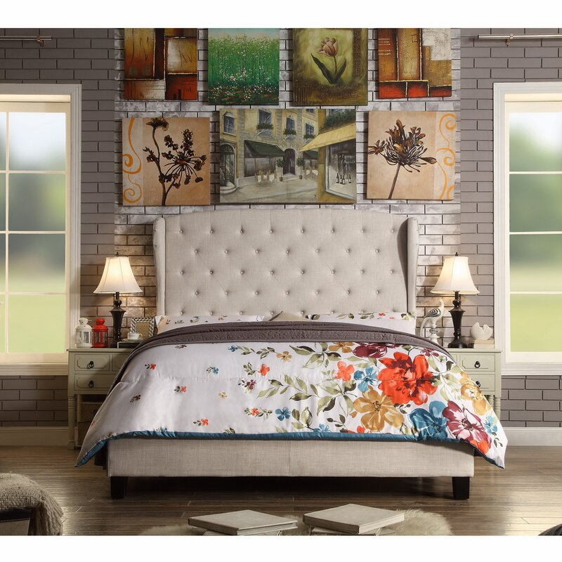 Top Rated Furniture Stores: Darby Home Co Nielsen Upholstered Panel Bed & Reviews