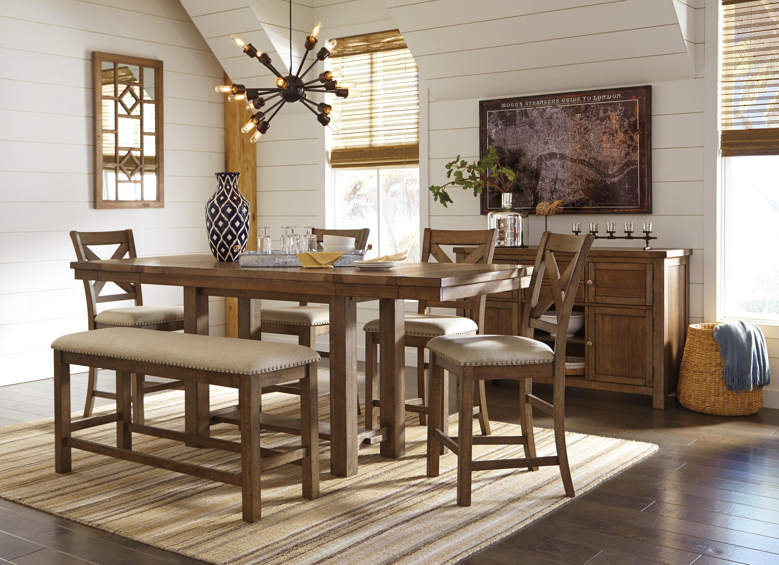 Laurel Foundry Modern Farmhouse Hillary 4 Piece Extendable Dining Set Reviews Wayfair