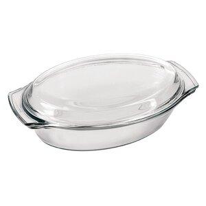 1.7 Qt. Glass Small Oval Casserole Lid
