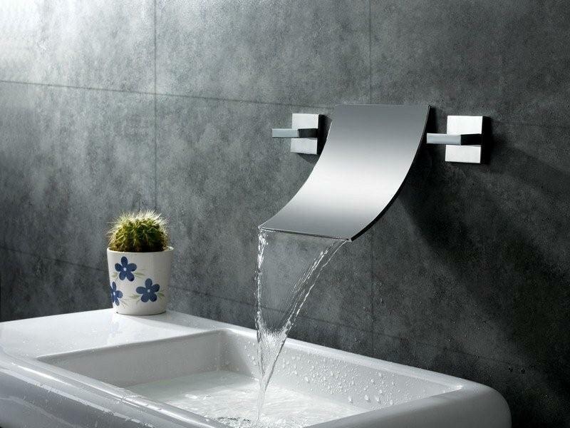 Sumerain Wall Mount Waterfall Bathroom Sink Faucet & Reviews | Wayfair