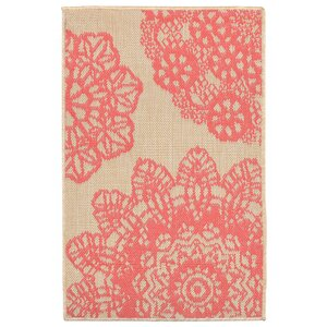 Devondra Crochet Pink/Beige Indoor/Outdoor Area Rug