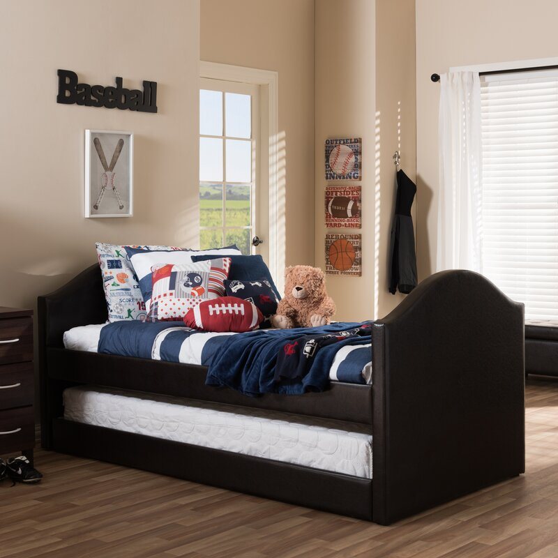 Wholesale Interiors Baxton Studio Twin Bed with Trundle & Reviews ...