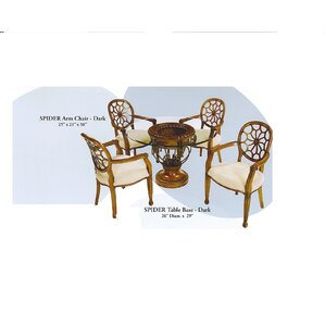Spider 5 Piece Dining Set by Benetti's Italia