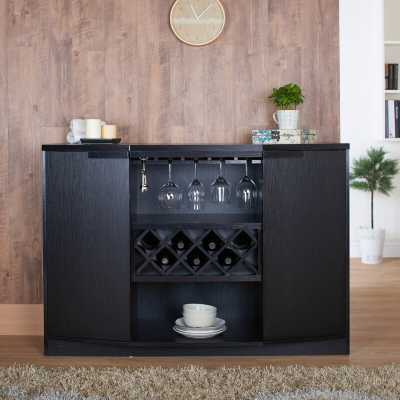 Wade Logan Xanthene Bar With Wine Storage Amp Reviews Wayfair