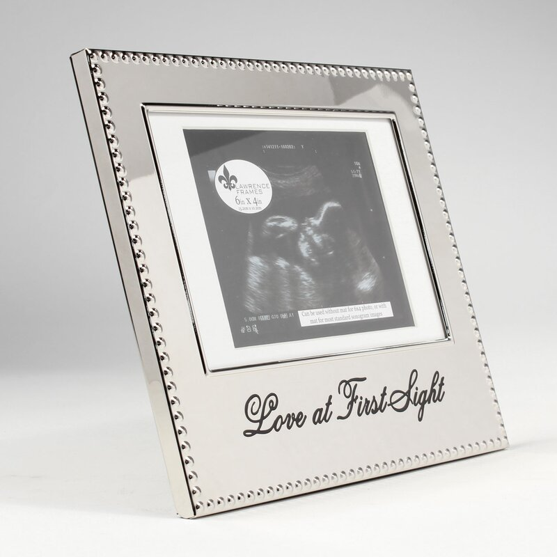 Charlton Home Culbane Love At First Sight Sonogram Picture Frame