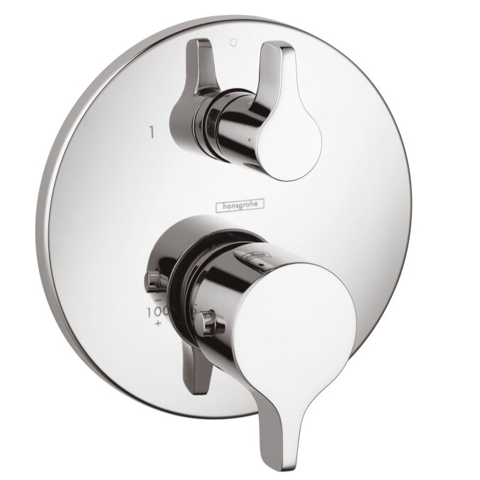 Hansgrohe Thermostatic Volume Control Faucet Trim with Lever Handle