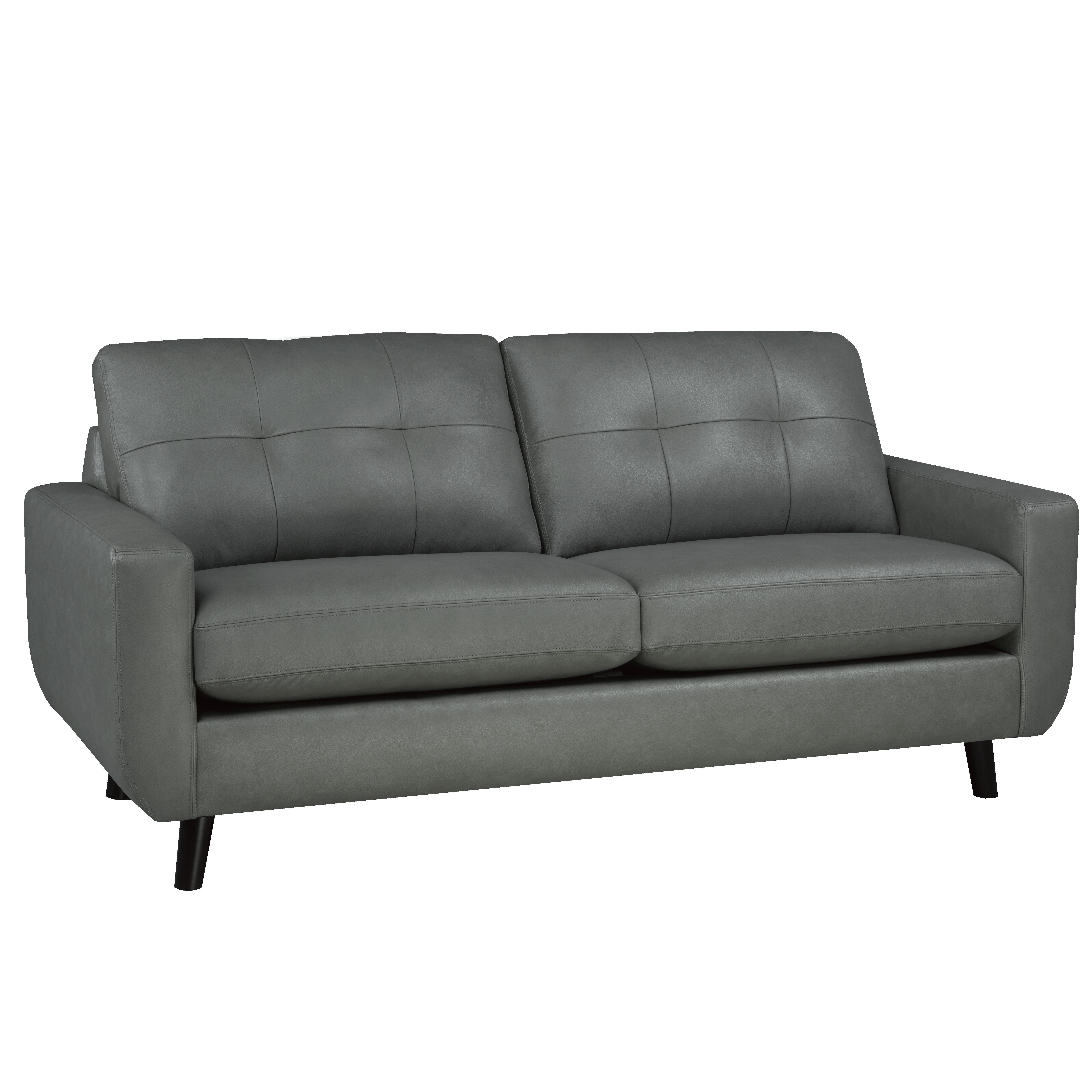 Brayden Studio Lathrop Genuine Leather Sofa   Wayfair