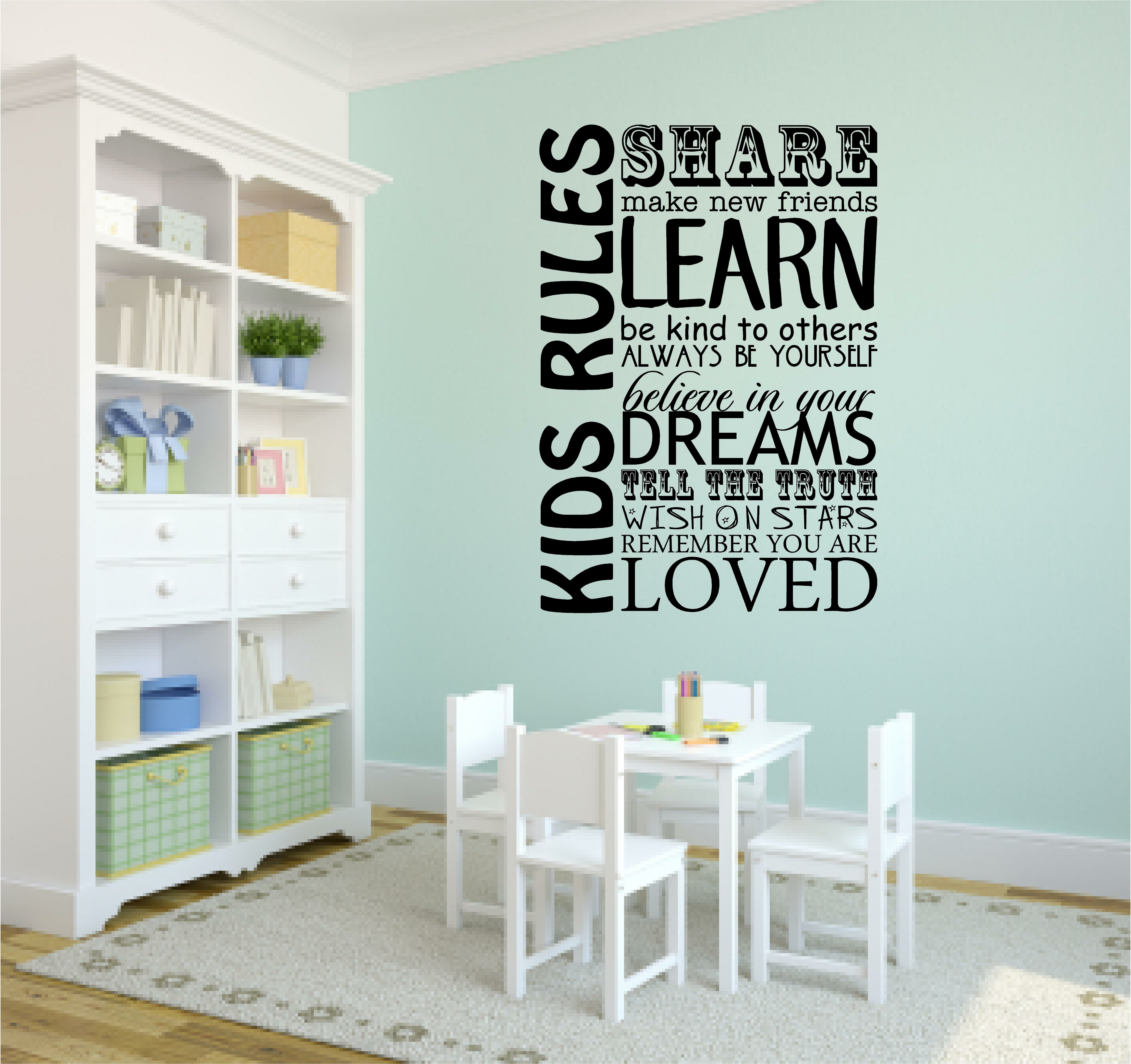 Delightful Winston Porter Kids Rules Playroom School Wall Decal U0026 Reviews | Wayfair