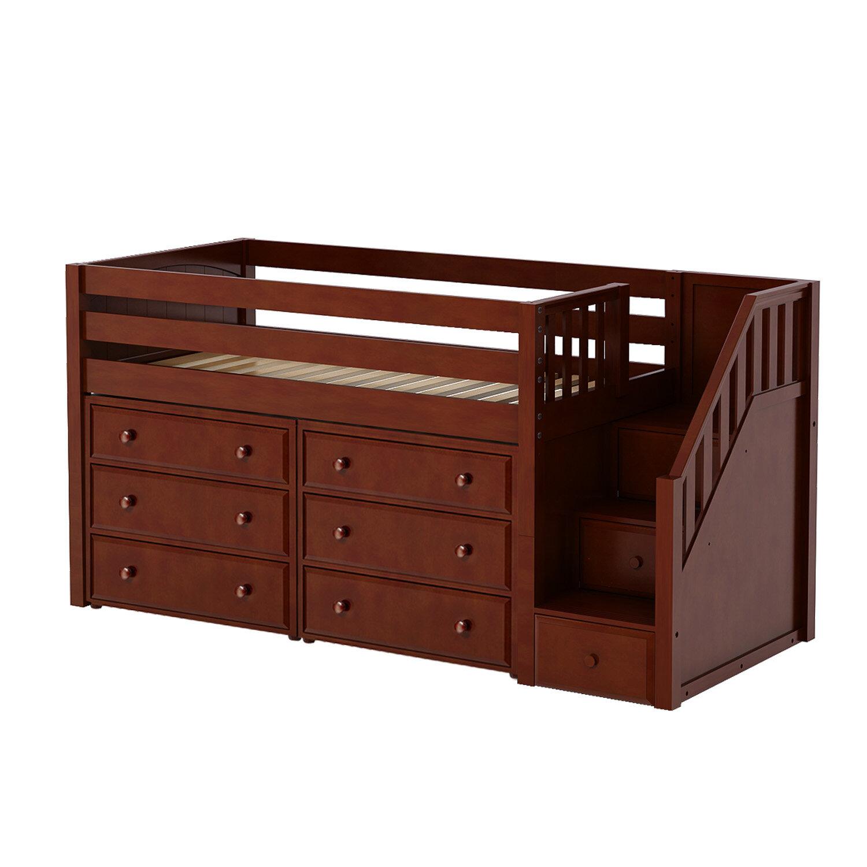 Maxtrix Kids Great3 Low Loft Bed With Storage Wayfair