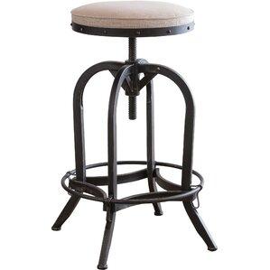 emily adjustable height swivel bar stool