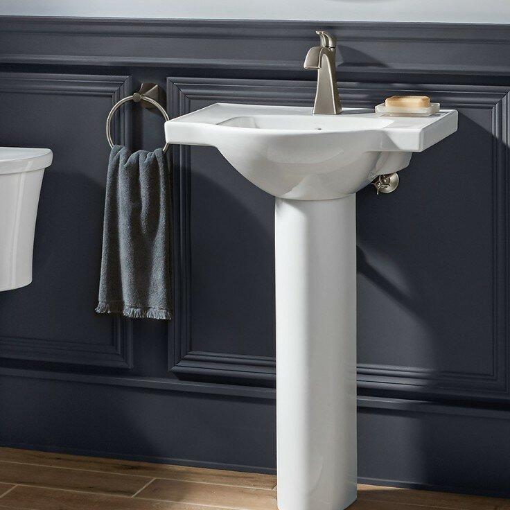 K 5266 8 0 1 0 4 0 Kohler Veer Ceramic 24 Pedestal Bathroom Sink