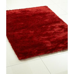 Whisper Hand-Tufted Sparkle Red Area Rug by Hazelwood Home