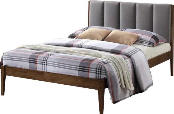 rachele mid century fabric and wood platform bed - Wooden Platform Bed Frames