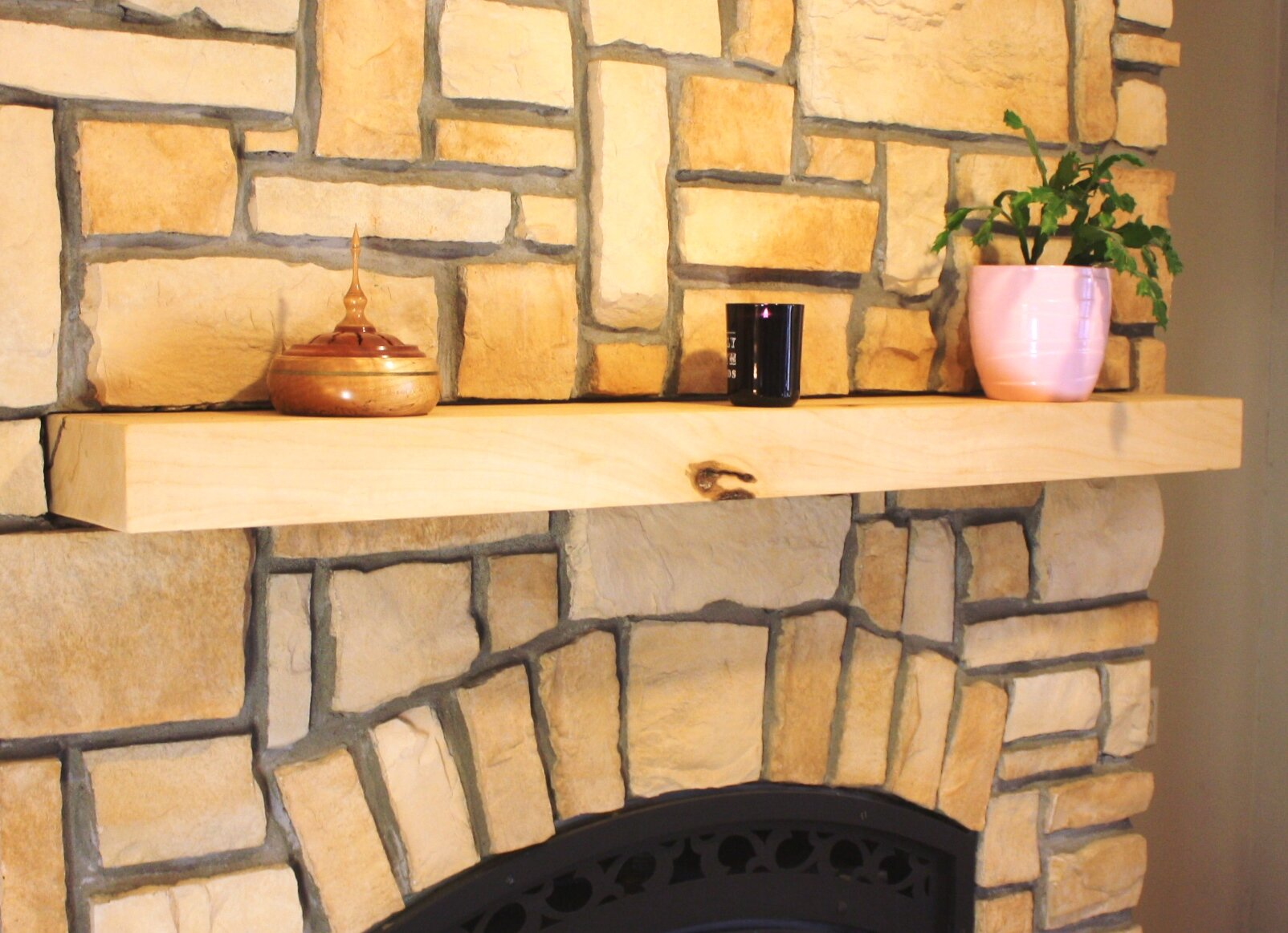 Kettle Moraine Fireplace Mantel Square Shelf | Wayfair