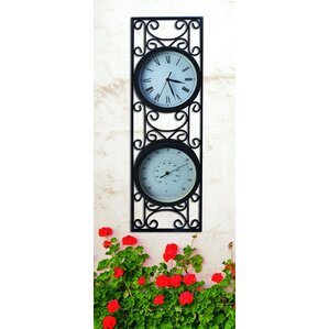 Garden Thermometer Wall Clock