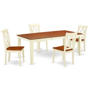 Kunze 5 Piece Extendable Solid Wood Dining Set