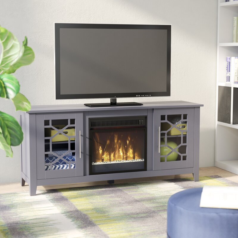 jennings tv stand for tvs up to 60 with optional fireplace - Tv Stands With Fireplaces