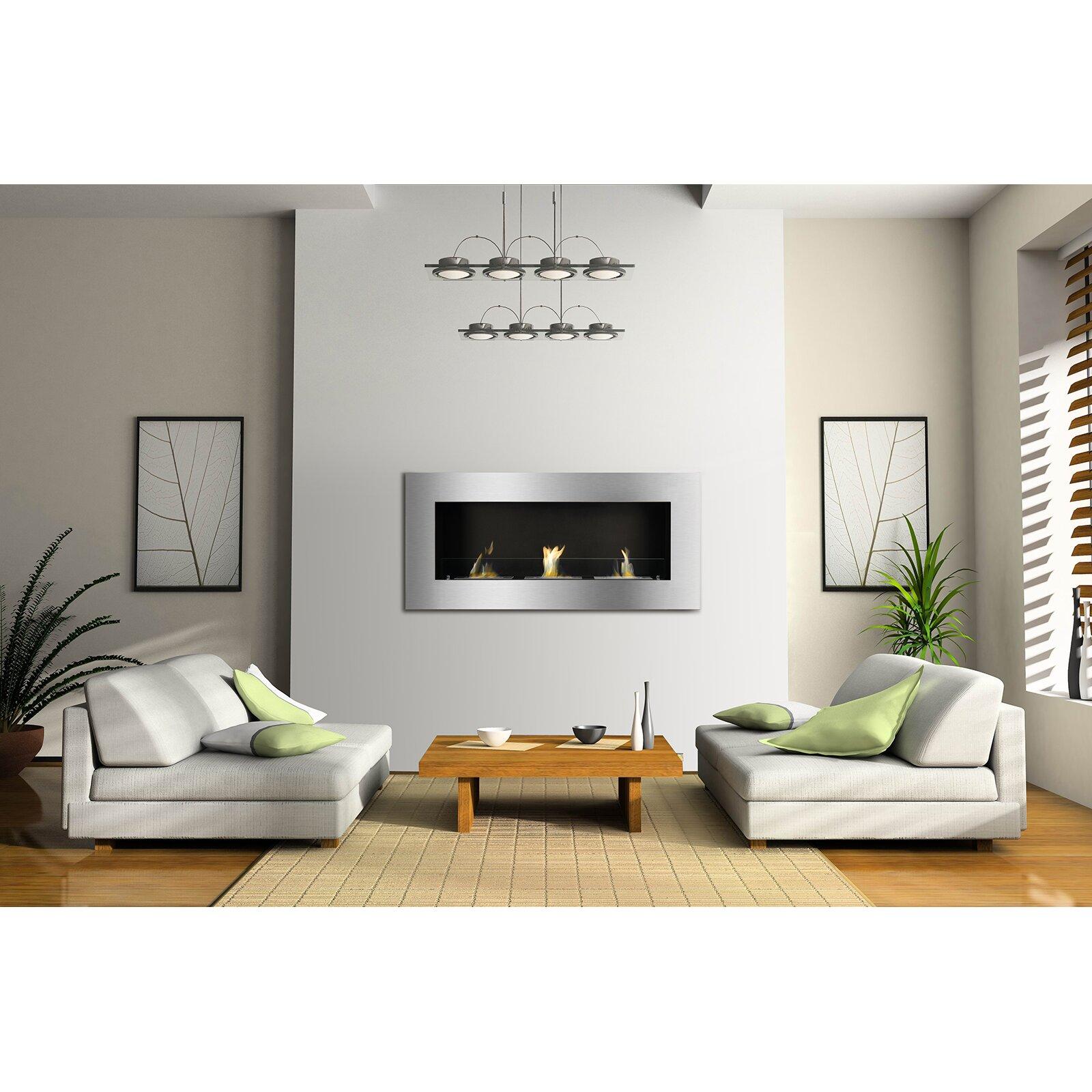 ignis optimum wall mount ethanol fireplace reviews wayfair supply