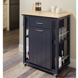 Delray Kitchen Cart with Casters