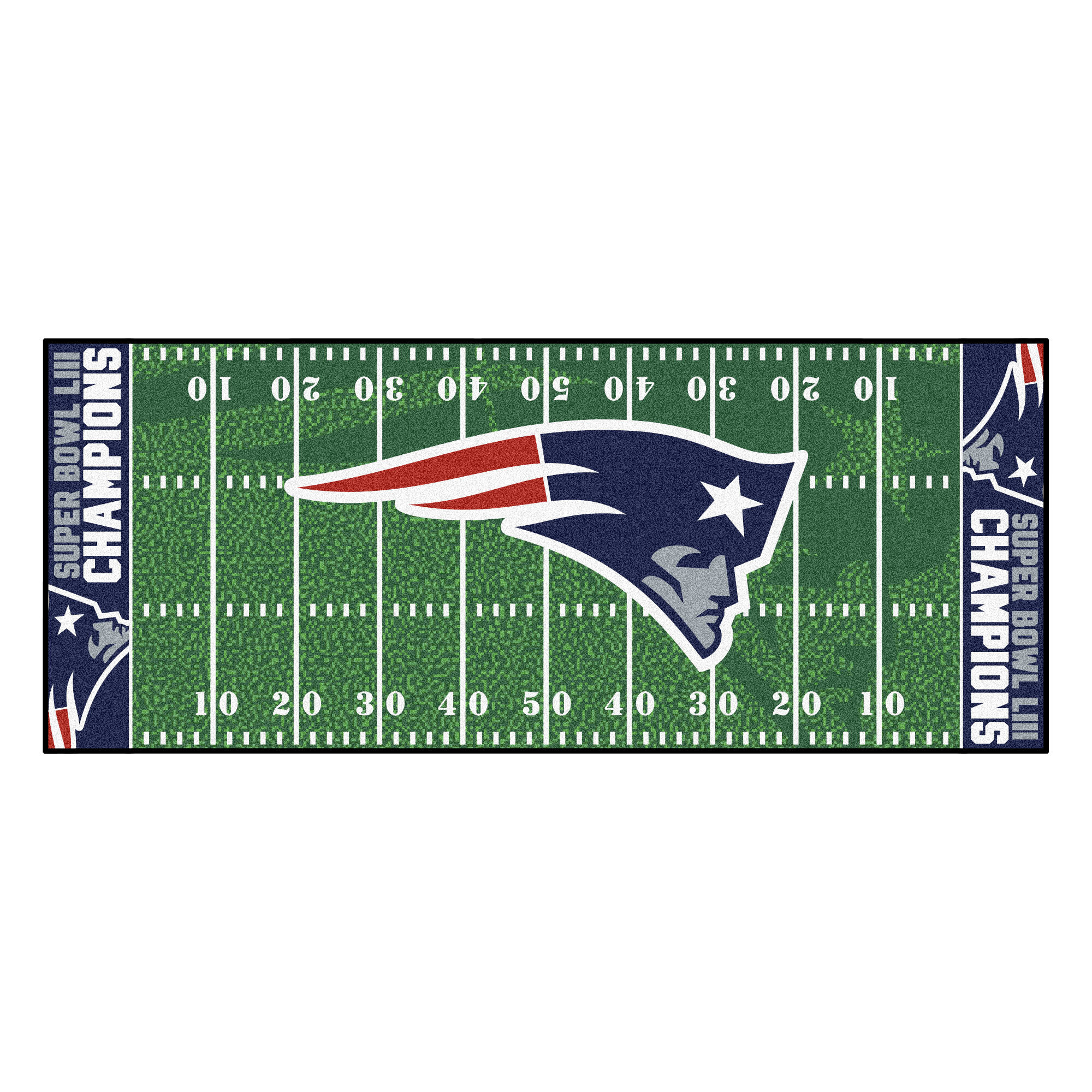 FANMATS Super Bowl LIII Champions Football Field Green