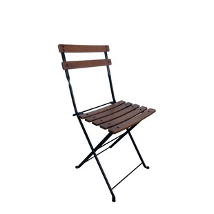 French Café Bistro Folding Patio Dining Chair (Set Of 2)